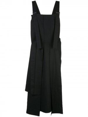 Сарафан со складками Yohji Yamamoto. Цвет: черный