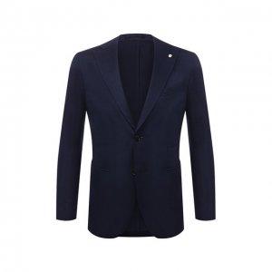 Хлопковый пиджак L.B.M. 1911. Цвет: синий