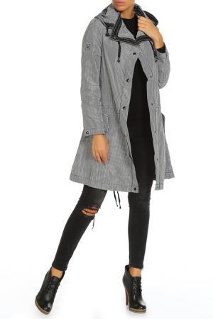 Куртка LAFEI-NIER. Цвет: черно-белая клетка