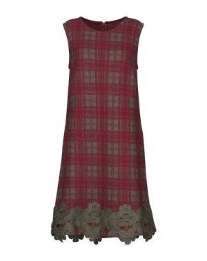 Короткое платье ANDREA TURCHI. Цвет: кирпично-красный