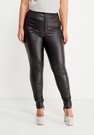 Джинсы LOST INK PLUS HIGHWAIST JEGGING IN COATED BLACK. Цвет: черный