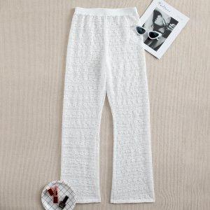 Пляжные брюки крючком SHEIN. Цвет: белый