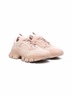 Low-top lace-up trainers Moncler Enfant. Цвет: розовый
