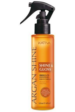 Спрей с аргановым маслом Kativa. Цвет: оранжевый