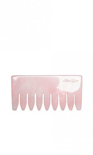 Расческа со стразами rose quartz crystal comb Skin Gym. Цвет: розовый