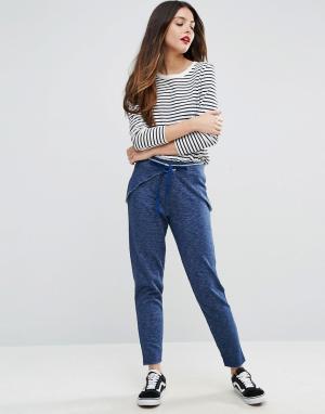 Брюки-шаровары с запахом в джинсовом стиле ASOS. Цвет: синий