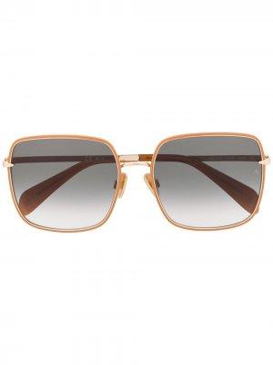 Солнцезащитные очки в квадратной оправе RAG & BONE EYEWEAR. Цвет: коричневый