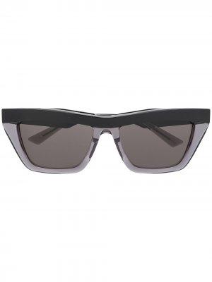 Солнцезащитные очки в прямоугольной оправе Bottega Veneta Eyewear. Цвет: черный