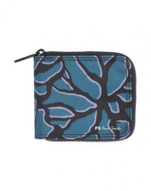 Бумажник PS PAUL SMITH. Цвет: цвет морской волны