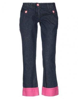 Джинсовые брюки-капри MORGAN DE TOI. Цвет: синий