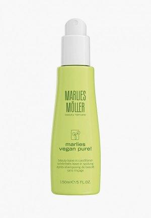 Кондиционер для волос Marlies Moller Несмываемый, красоты VEGAN PURE, 150 мл. Цвет: белый