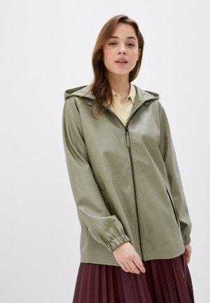Куртка кожаная Mavi HOODED JACKET. Цвет: хаки