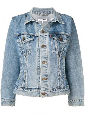 Джинсовая куртка с выцветшим эффектом Re/Done. Цвет: синий