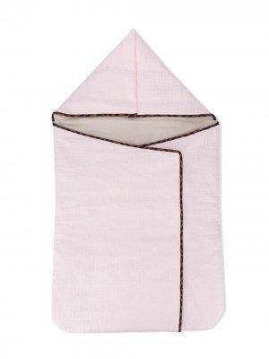 Одеяло с узором FF Fendi Kids. Цвет: розовый