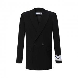 Шерстяной пиджак Off-White. Цвет: чёрный