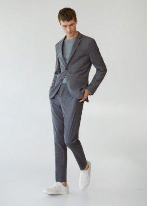 Костюмные брюки super slim fit в клетку - Paulo Mango. Цвет: серый