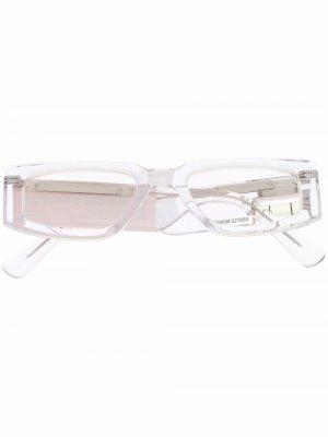 Солнцезащитные очки из коллаборации с Gentle Monster Heron Preston. Цвет: белый