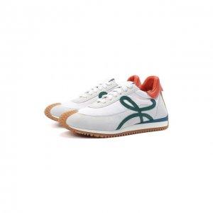 Комбинированные кроссовки Flow Runner Loewe. Цвет: белый