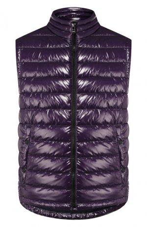 Стеганый жилет BOSS. Цвет: фиолетовый