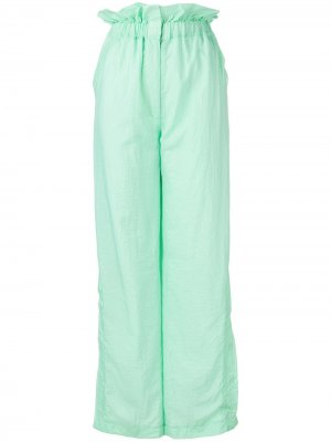 Расклешенные брюки с завышенной талией House of Holland. Цвет: зеленый