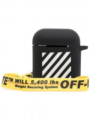 Stripe-detail AirPods case Off-White. Цвет: черный