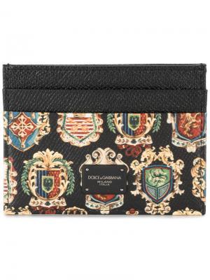 Визитница с гербами Dolce & Gabbana. Цвет: чёрный