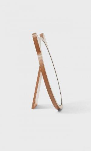 Зеркало «Кошка» Женская Коллекция Бежевый 103 Stradivarius. Цвет: бежевый