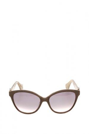 Очки солнцезащитные с линзами Vivienne Westwood. Цвет: 02 коричневый