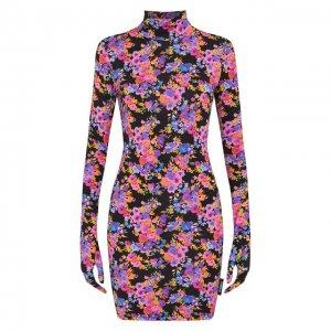 Платье Vetements. Цвет: разноцветный