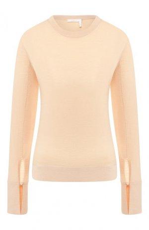Шерстяной пуловер Chloé. Цвет: розовый