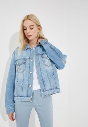 Куртка джинсовая Versus Versace. Цвет: голубой
