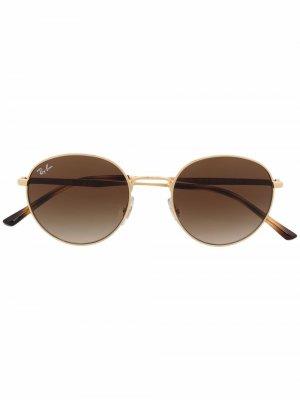 Солнцезащитные очки RB3681 в круглой оправе Ray-Ban. Цвет: золотистый