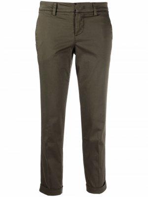 Укороченные брюки чинос Fay. Цвет: зеленый