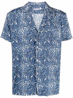 Рубашка с короткими рукавами и принтом Daniele Alessandrini. Цвет: синий