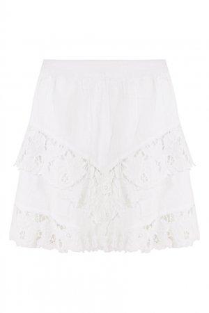 Белая юбка Enali Isabel Marant Etoile. Цвет: белый