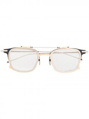 Солнцезащитные очки TB817 Iron Clubmaster Thom Browne Eyewear. Цвет: золотистый