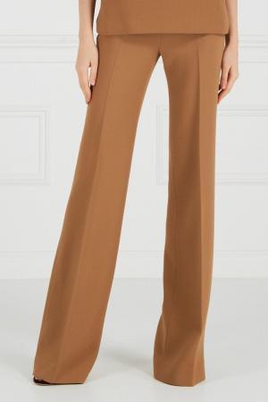 Широкие брюки из крепа Chapurin. Цвет: желтый