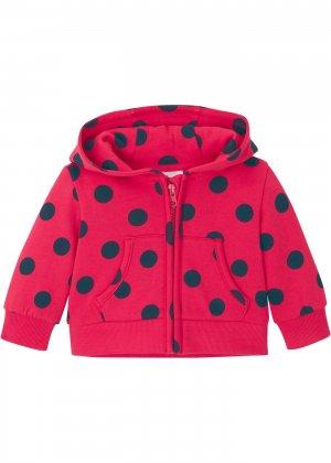 Куртка трикотажная bonprix. Цвет: красный