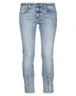 Джинсовые брюки-капри RAG & BONE. Цвет: синий
