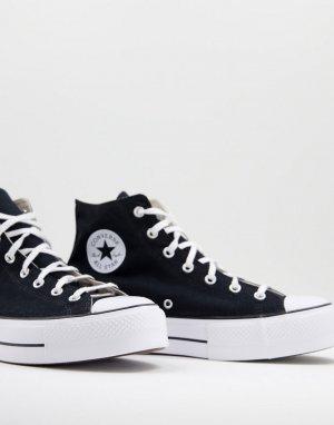 Черные высокие кроссовки на слоеной подошве Chuck Taylor All Star-Черный цвет Converse