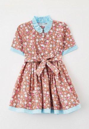 Платье Ete Children. Цвет: разноцветный