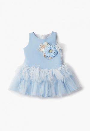 Платье MiLi. Цвет: голубой