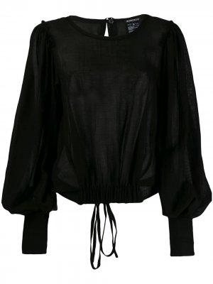 Блузка с драпировкой на пуговицах Ann Demeulemeester. Цвет: черный