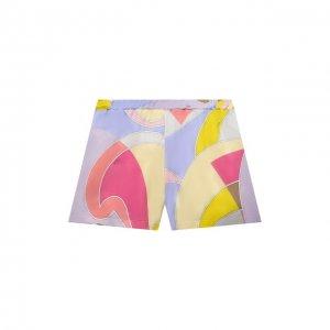 Хлопковые шорты Emilio Pucci. Цвет: разноцветный