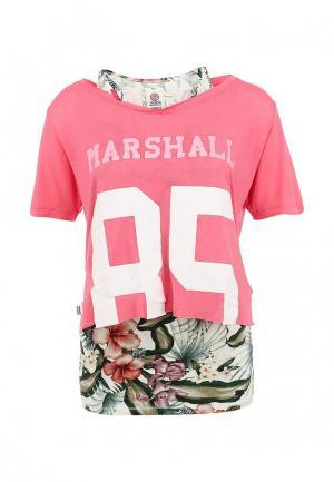 Комплект: футболка и майка Franklin & Marshall. Цвет: розовый