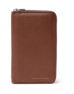 Бумажник BRUNELLO CUCINELLI. Цвет: коричневый