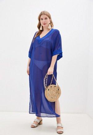 Платье пляжное Donatello Viorano. Цвет: синий
