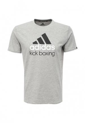Футболка adidas Combat Community T-Shirt Kickboxing. Цвет: серый