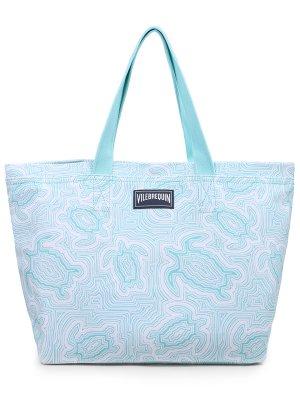 Пляжная сумка из хлопка VILEBREQUIN. Цвет: разноцветный