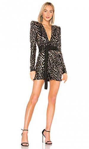Коктейльное платье spirit animal Zhivago. Цвет: черный